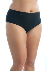 Tuffetts Mid Rise Brief In Tiffany Black