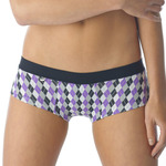 Tuffetts Shorties In Purple Argyle