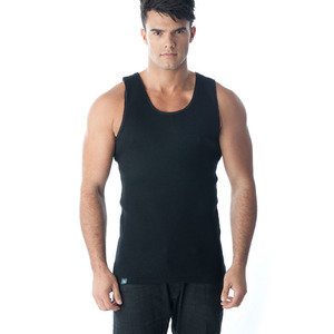 Tuffys Classic Ribbed Singlet In Black
