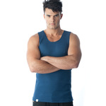 Tuffys Classic Ribbed Singlet In Navy