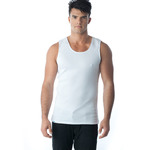 Tuffys Classic Ribbed Singlet In White