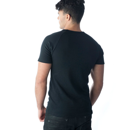 Tuffys V-Neck Muscle Top In Black