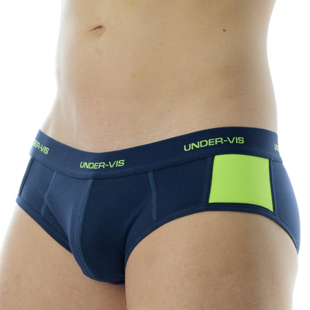 Under-Vis Alpha Brief In Yellow