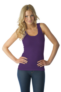 Tuffetts Tank Top In Deep Purple