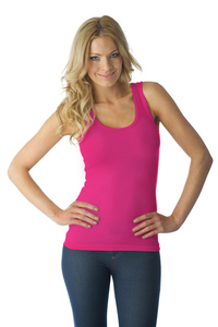 Tuffetts Tank Top In Hot Pink