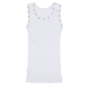 Tuffys FOR KIDS™ Ribbed Singlet White