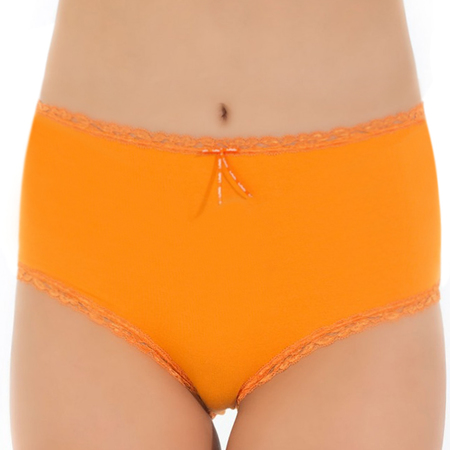 Tuffetts Lace On Mid Rise Brief in Orange