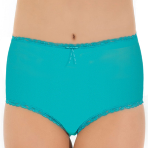 Tuffetts Lace On Mid Rise Brief in Aqua