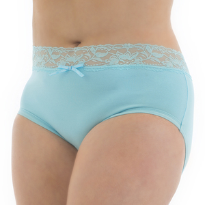 Tuffetts Lace On Hi Rise Brief In Sky Blue
