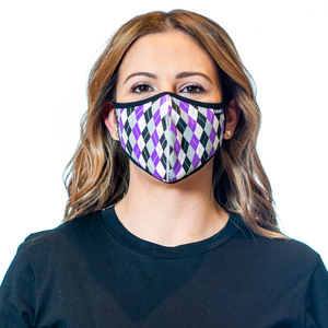 Tuffetts Face Mask In Purple Argyle